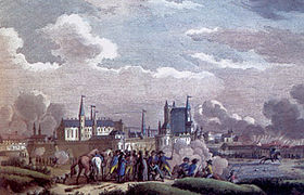 Peinture : Siège de Nantes en 1793