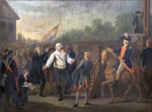 peinture : Louis XVI montant sur l'échafaud'